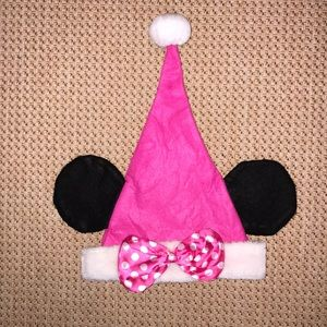 Minnie Mouse Ears Santa Hat